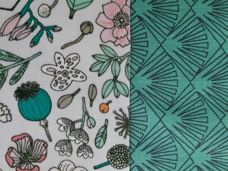 coton enduit fleurs