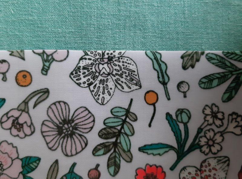 enduit fleurs et lin